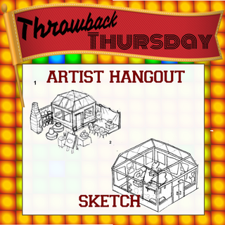 Early sketch of the Artist Hangout