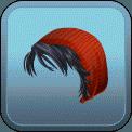 FEMALE SHORT HAIR BEANIE (BLACK)
