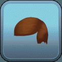 FRINGED SLICKED SIDE-PART (BROWN)