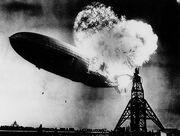 Incendio del dirigible Hindenburg (Lakehurst, 1937)