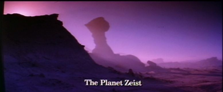 Planet Zeist from Highlander 2 which is a Highlander movie that features the Planet Zeist and is promptly forgotten in the mythos of the Highlander franchise even though Highlander 2 had 100% more Zeist than other Highlander movies.
