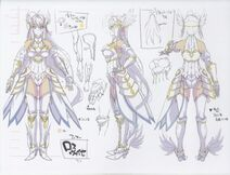 HERO Rossweisse with Valkyrie armor sketches