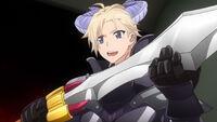 Darkness Knight Fang wielding a sword