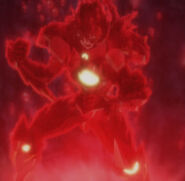 Issei undergoing Evolution with his Potential