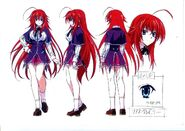 Rias anime sketches only