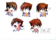 Issei anime face sketches