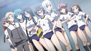 Sona and her team in gym uniform