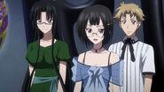 Sona, Tsubaki, and Saji at the Youth Devils Gathering