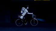 Koneko riding with Issei