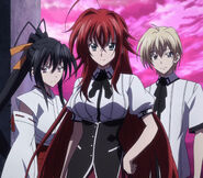 Rias Akeno and Kiba against Diodara's Peerage