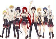 Manga Rias's Peerage with blank background