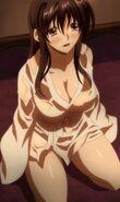 Akeno preparing to suck Issei's Dragon power
