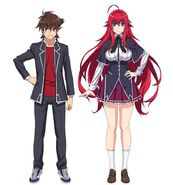 Issei and Rias Hero designs