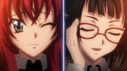 Rias and Sona agreeing to a tennis match