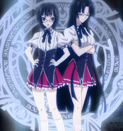 DxD New - Sona and Tsubaki arriving through means of Magic Circle