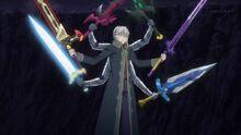 Siegfried wielding 6 swords