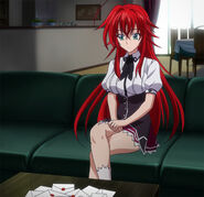 Rias receiving Diodara's proposal letters to Asia