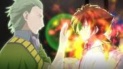 Ajuka adjust Issei's Evil Pieces