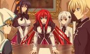Rias and her peerage making a plan
