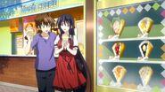 Issei and Akeno eating Parfait