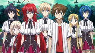 Rias and Her Peerage as they appear in the Underworld