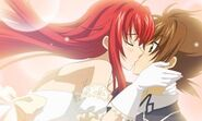 Rias and Issei' ending part 2 kiss