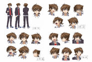 Issei anime design sheet