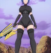 Xenovia in battle attire as she prepares for the Rating Game fight