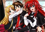 HS DxD visual collection Issei, Rias & Asia
