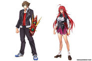 Issei & Rias DxD x Dragon Cavalier Mobage Designs
