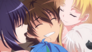 Issei surrounded by the Girls who Care About Him