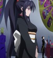 Akeno kimono attire at young devil gathering