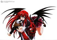HS DxD visual collection Rias and Issei