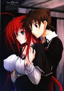Issei comforting Rias (Textless)