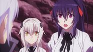 Akeno and Koneko asking Vali's help