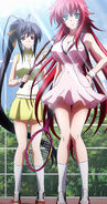 Rias and Akeno in their tennis outfits