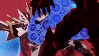 Vali attacking Issei - Lucifer Clan Crest