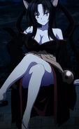 Kuroka patiently sitting