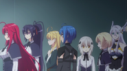 Rias Peerage before the upcoming Fight