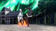 Koneko Just hit by Yubelluna's fire magic