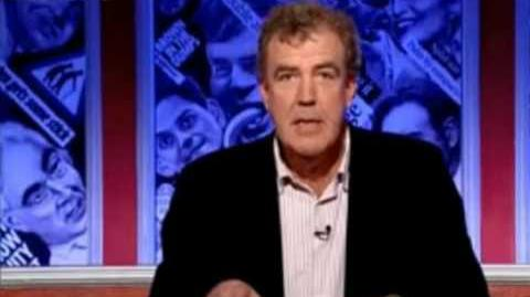 Jeremy Clarkson throws pen at Ian Hislop