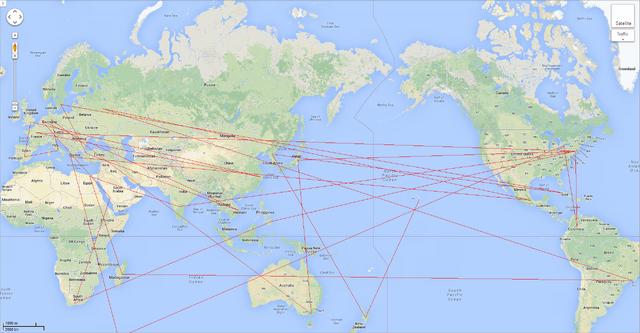 TDWT World Map