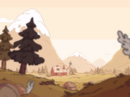 Hilda's House (wilderness) in opening credits