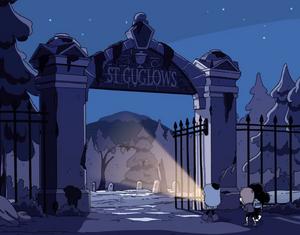 St. Guglows graveyard entrance