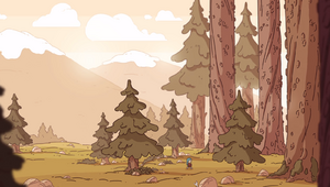 Hilda enters the Great Forest