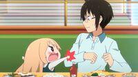 Umaru throws a tantrum infront of Ebina
