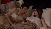Benefits - ted and robin in bed