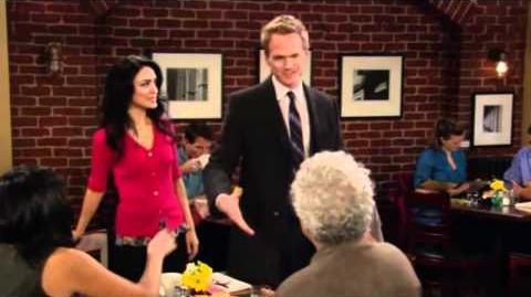 How I met your mother - Barney, in love, walks away
