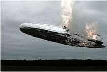 Golfhotelwhiskey.com-A-scale-model-of-the-Hindernburg-airship-on-fire