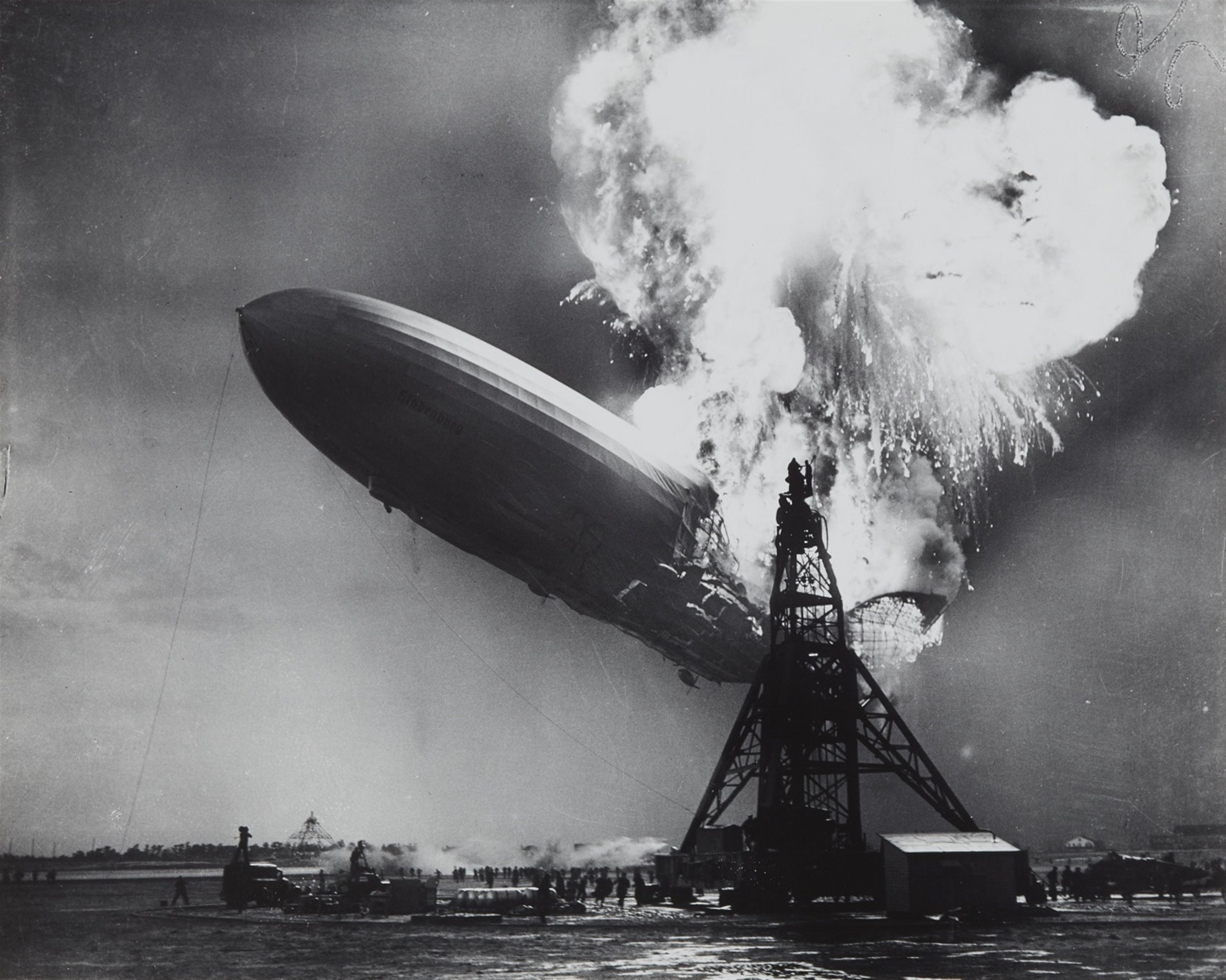 Hindenburg Disaster: Real Zeppelin Explosion Footage (1937)